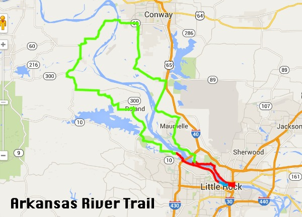 Arkansas river trail map