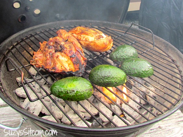 mexican grilled chicken and avocados