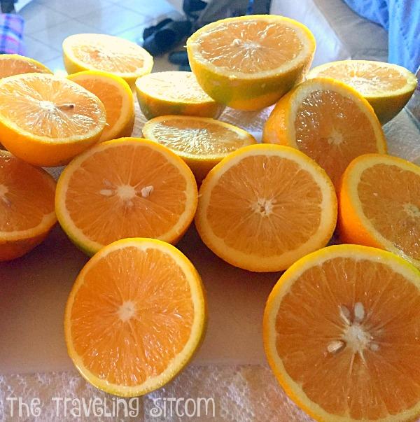 Orange juice for breakfast