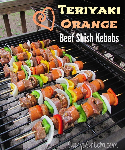 teriyaki orange beef kebabs grill recipe