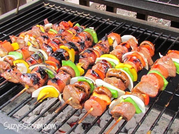 teriyaki orange beef kebabs grill recipe