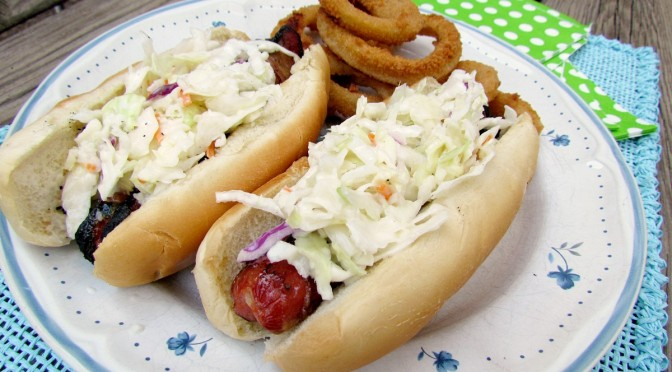 Southern Style Bacon Wrapped Slaw Dogs Recipe