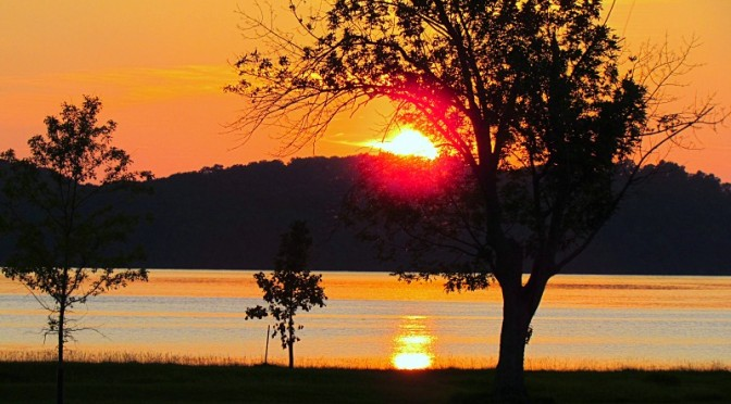 guntersville park alabama sunset