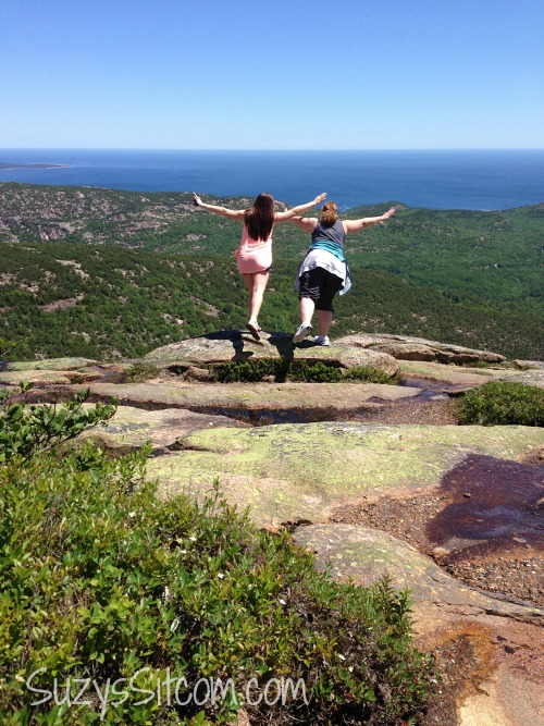 top of cadillac mountain bar harbor maine